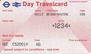 Travelcard 2 dagen 4 zones Anytime