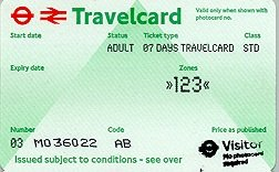 Travelcard 7 dagen 3 zones Anytime