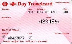 Travelcard 3 dagen 6 zones off peak