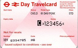 Travelcard 3 dagen 6 zones Anytime Kind