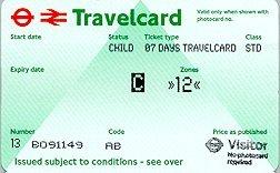 Travelcard 7 dagen 2 zones Anytime Kind