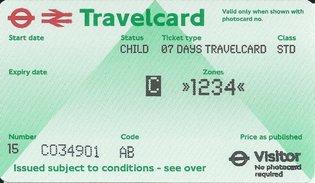 Travelcard 7 dagen 4 zones Anytime Kind