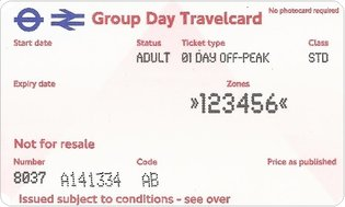 Group Day Travelcard 1 dag