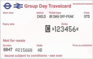Group Day Travelcard 4 dagen t/m 15 jaar