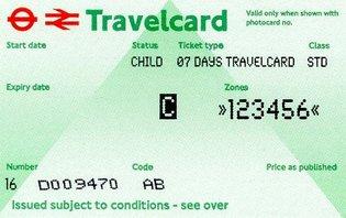 Travelcard 7 dagen 6 zones Anytime Kind