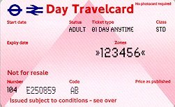 Travelcard 1 dag 6 zones Anytime