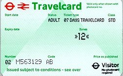 Travelcard 5 dagen 2 zones Anytime