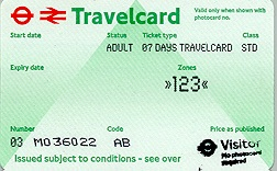 Travelcard 5 dagen 3 zones Anytime