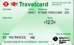 Travelcard 6 dagen 3 zones Anytime