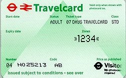 Travelcard 6 dagen 4 zones Anytime