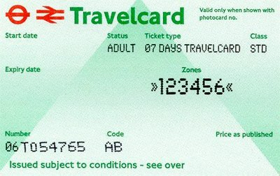 Travelcard 7 dagen 6 zones Anytime