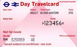 Travelcard 2 dagen 6 zones Anytime