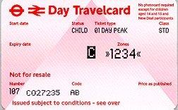 Travelcard 3 dagen 4 zones Anytime Kind