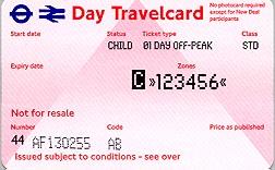 Travelcard 3 dagen 6 zones off peak Kind