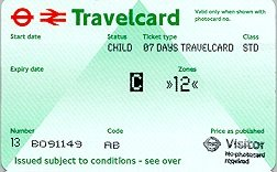 Travelcard 7 dagen 2 zones Anytime Kind