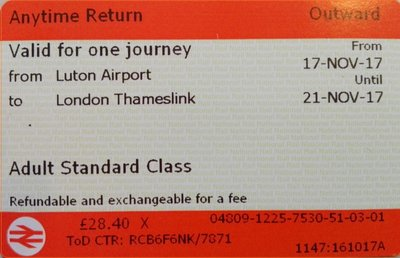 Luton - London Retour