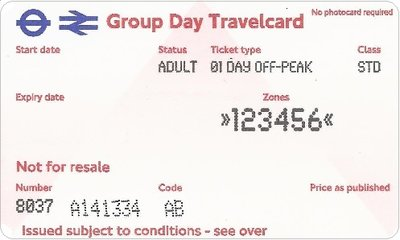 Group Day Travelcard 3 dagen