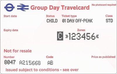 Group Day Travelcard 1 dag t/m 15 jaar